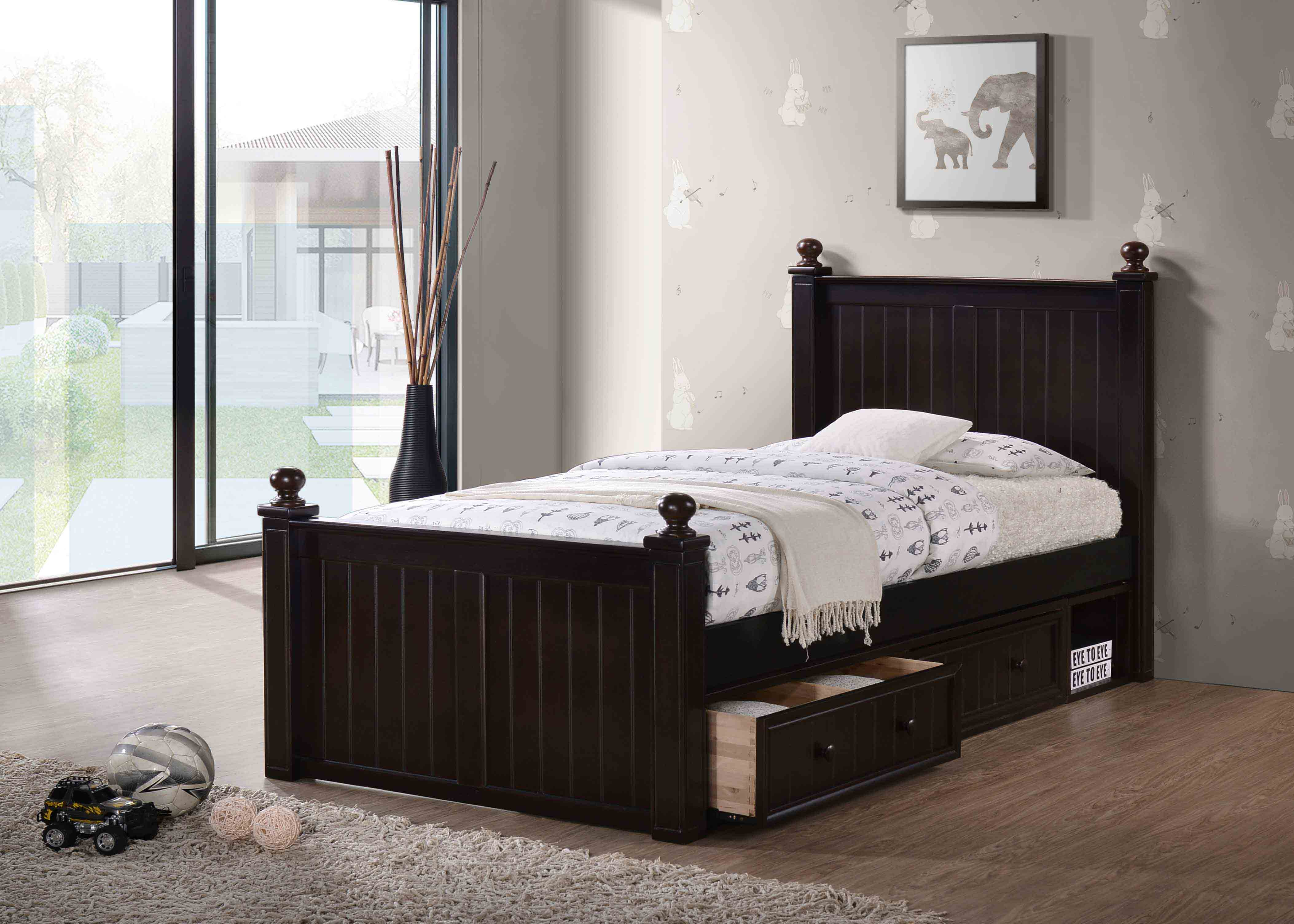 frame single with htm rest bedmaster delivery next select p maya pine bed beds mattress quilted day wooden