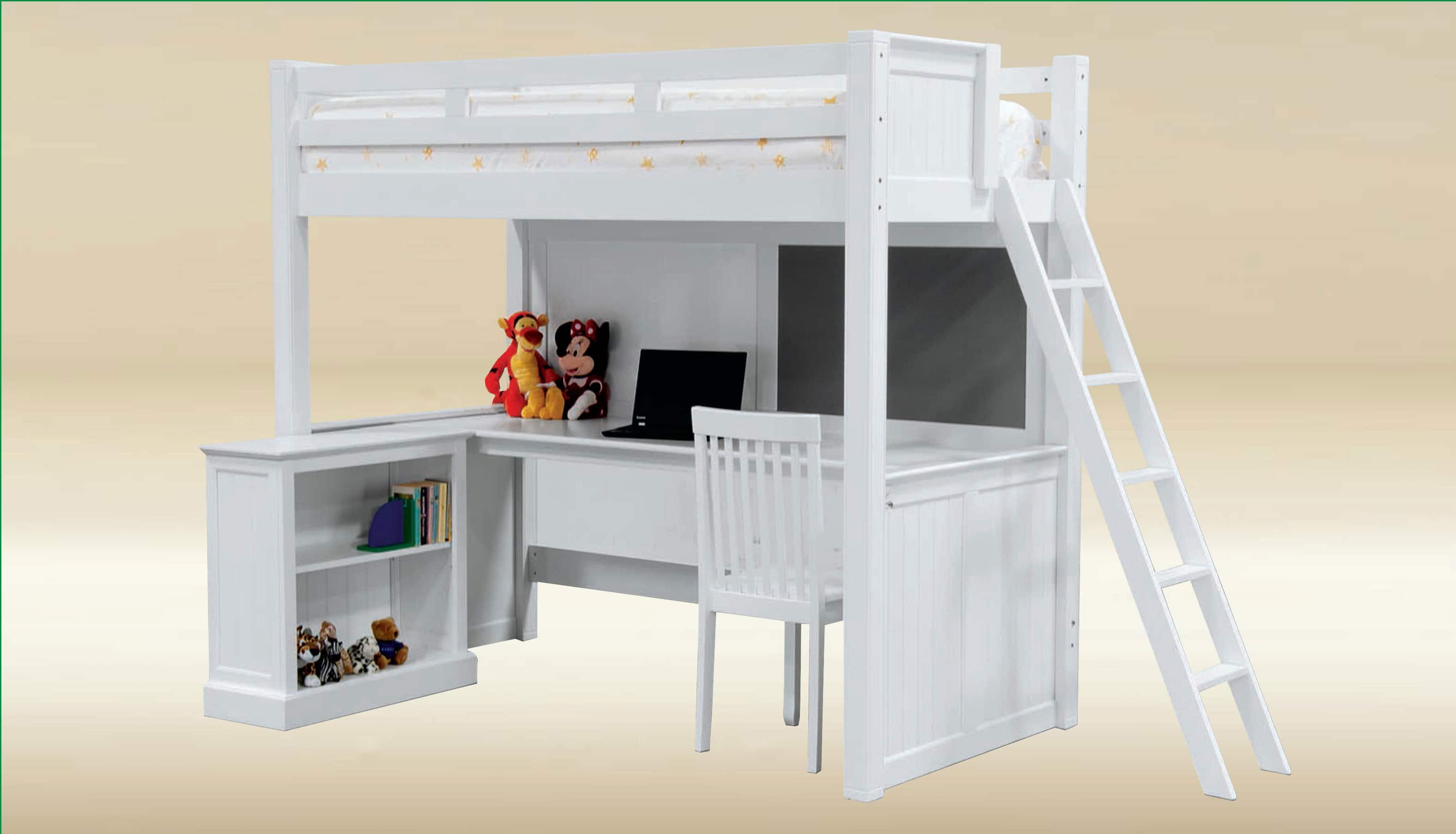 Twin Loft Bed With 1/2 Laminate U0026 1/2 Foam Board