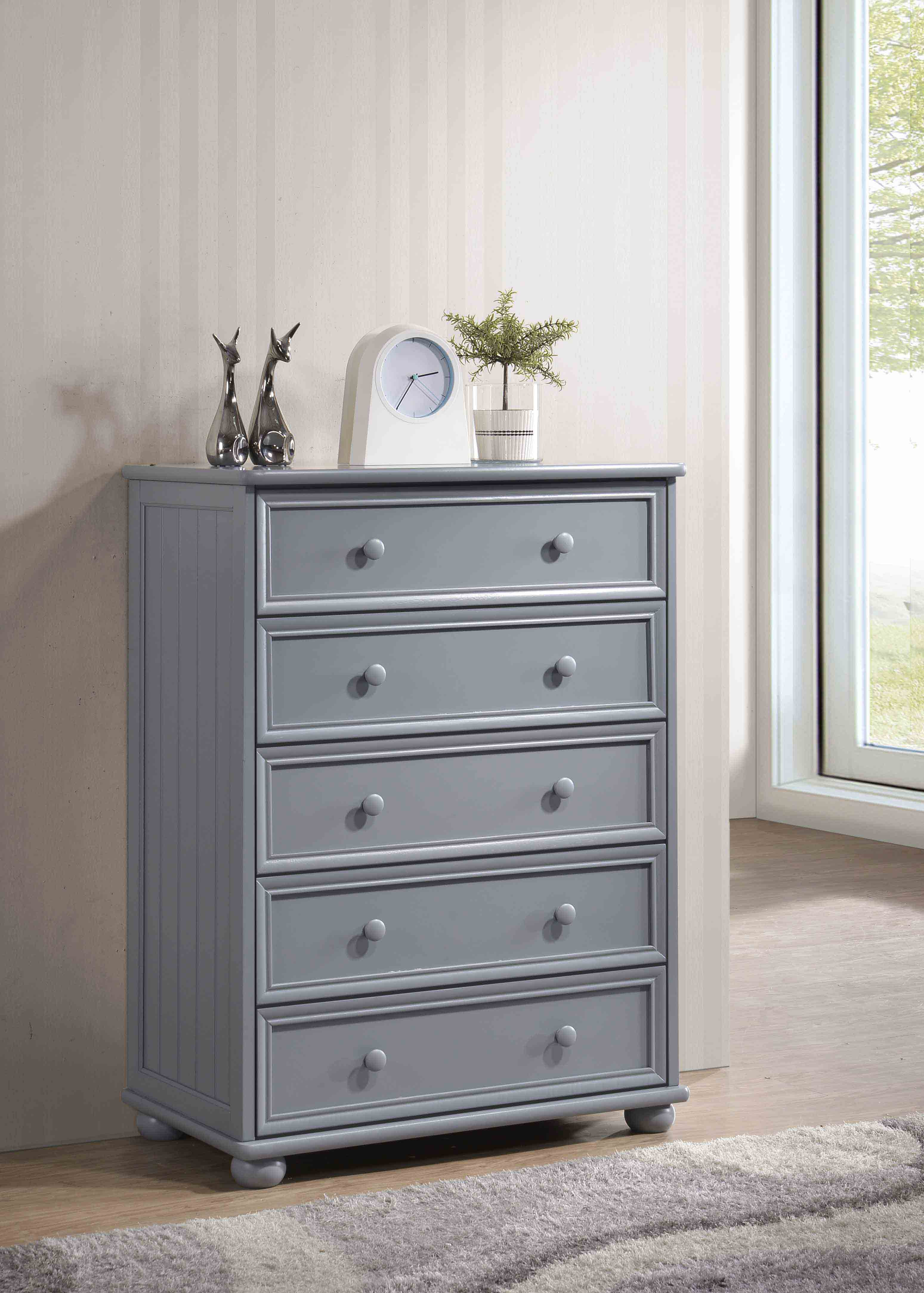 5 Drawer Bead Board Chest
