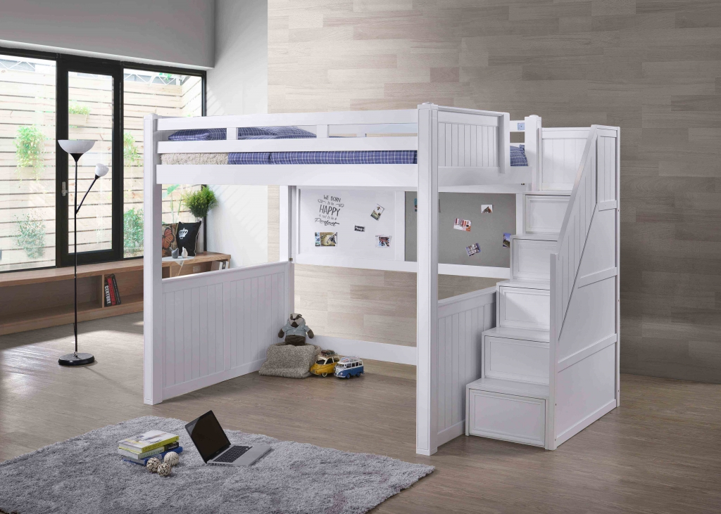 Full Loft Bed Includes White Amp Foam Board J A Y
